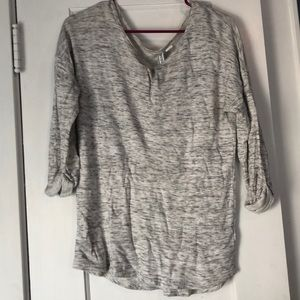 H&M heathered grey top - M